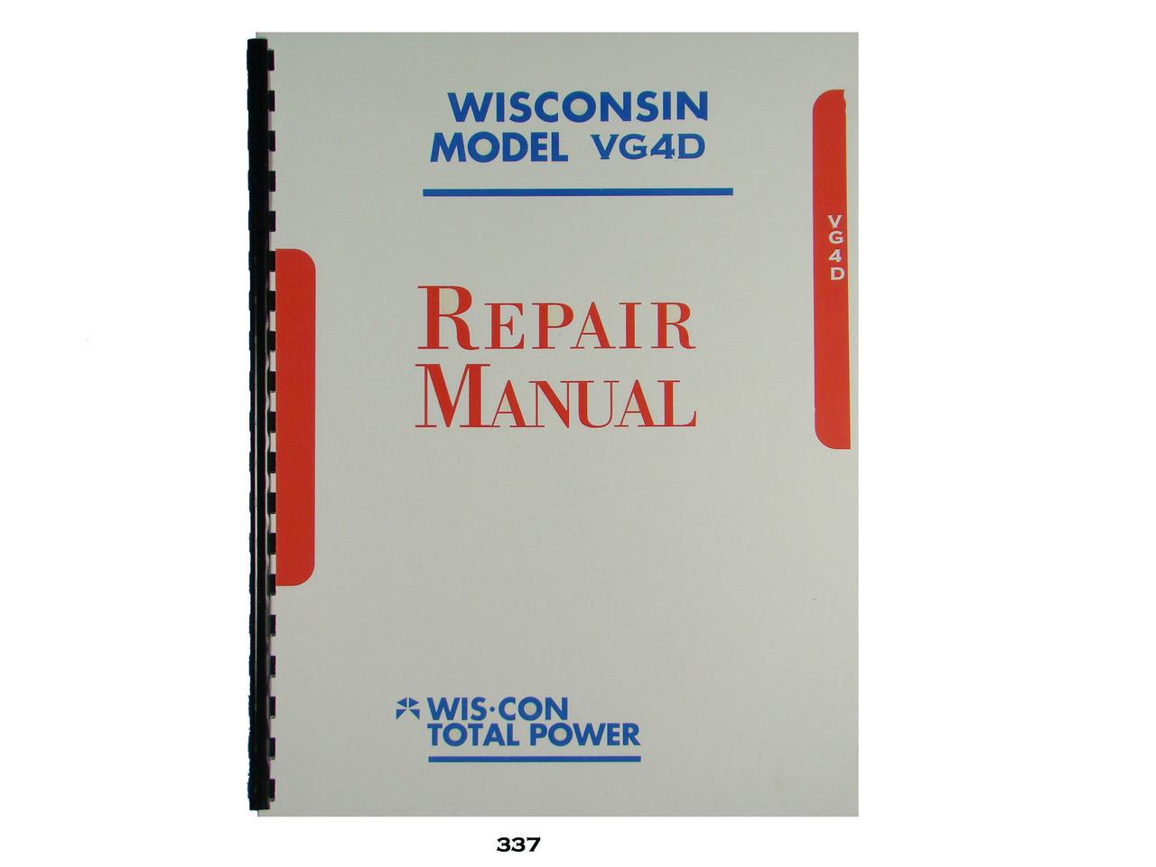 Winconsin vg4d Repair manual