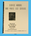 Cincinnati 1-12 & 1-18 Plain Automatic Milling Machine Service & Parts Manual Cover