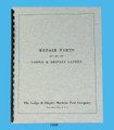 "Lodge & Shipley Lathe Models 18"" , 20"" , & 22"" Repair Parts Manual Cover"