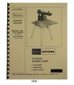 "Sears Craftsman 113.199200 & 113.199250 10"" Radial Arm Saw Owner Manual  #1504"