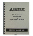 Goodway Lathe GW1422, 1433, 1440, 1633, 1640, 1660 Instruction-Parts Manual 1468