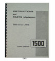 "Clausing 14"" Lathe 1500 Series sn151110-152258 Instruct & Parts List Manual 1361"