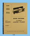 Sears Craftsmant Jointer Cover 1124