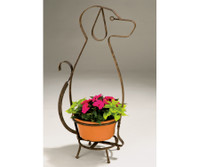 Deer Park Whimsical 34 In. H x 18 In. W x 10 In. D Dog Planter Holder