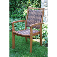 Outdoor-Interiors-All-Weather-Wicker-&-Eucalyptus-Stacking-Arm-Chair