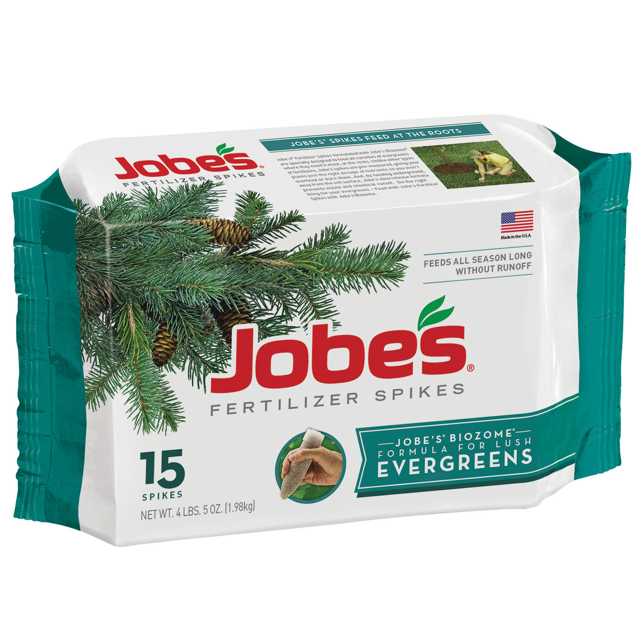 Jobe's-Evergreen-Tree-&-Shrub-Fertilizer-Spikes,-15-count