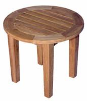 Teak-Round-End-Table-18.5in-Dia-by-Regal-Teak
