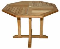 Teak Octagon Table, Dia 52in by Regal Teak