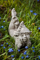 Campania Ronin, Cast Stone Mythical Creature Statue Garden Ar