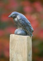 Campania Stone small raven statue.