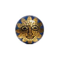 Sun Face Mosaic Gazing Globe