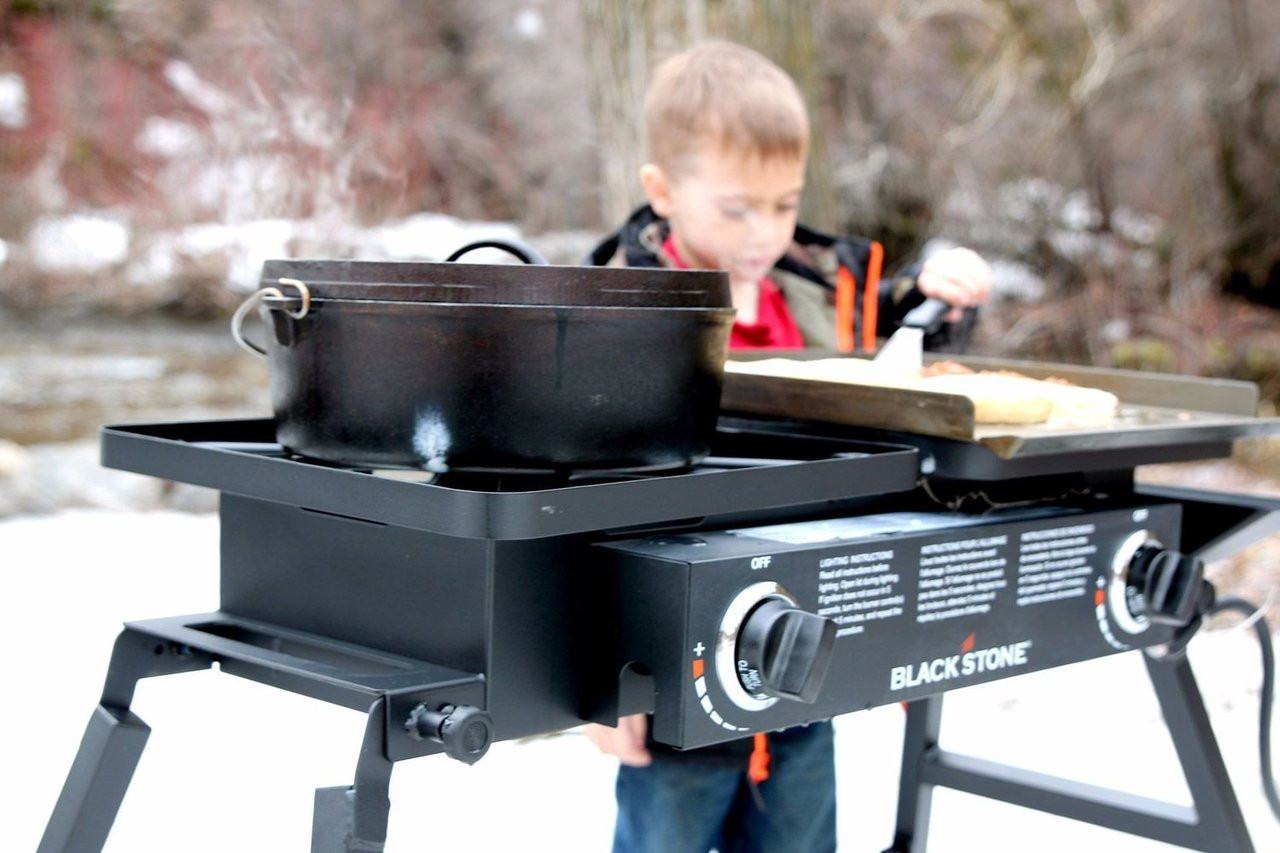 Blackstone Tailgater With cooking Soup