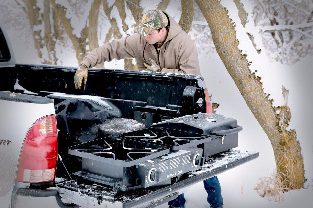 Blackstone tailgater on truck hunting