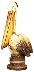 """Weathered Wood-Look"" Pelican on Post"