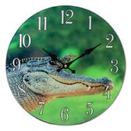 Alligator Glass Clock
