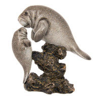 Baby and Mama Manatee Figurine