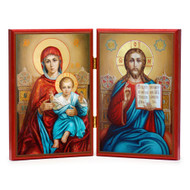 Christ and Theotokos Enthroned Diptych