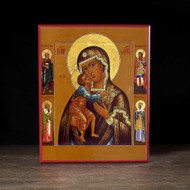 "Theotokos ""Tenderness"" with Saints Icon - T137"