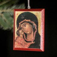 "Theotokos ""Tenderness"" (XVc) Tree Ornament - T126"