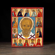 Saint Nicholas With Deësis (XVIc) Icon - S139