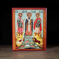 Saints Blasius, Florus and Laurus (XVIIIc) Icon - S157