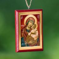 Christ / Theotokos Car Mirror Icon