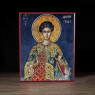 Saint Demetrios (Athos) Icon - S349