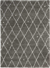 Calvin Klein Riad Grey/Ivory Shag Area Rug by Nourison