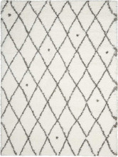 Calvin Klein Riad Ivory/Grey Shag Area Rug by Nourison