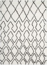 Calvin Klein Riad Ivory/Charcoal Shag Area Rug by Nourison
