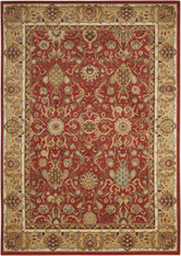 "Kathy Ireland Lumiere ""Stateroom"" Brick Area Rug by Nourison"