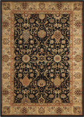 """Kathy Ireland Lumiere """"Stateroom"""" Onyx Area Rug by Nourison"""