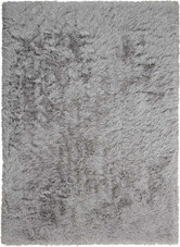 "Kathy Ireland Studio ""Studio Boulevard"" Silver Shag Area Rug by Nourison"