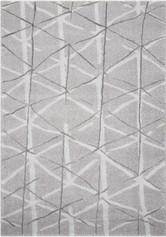 Kathy Ireland Ingenue Silver Shag Area Rug by Nourison