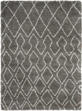 Calvin Klein Riad Grey/Ivory Shag Area Rug by Nourison - CKSH2
