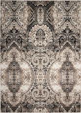 Michael Amini Glistening Nights Light Grey Area Rug by Nourison