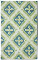 Mohawk Printed Indoor/ Outdoor Summer Splash Turquoise