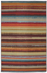 Mohawk Printed Indoor/ Outdoor Avenue Stripe Multi