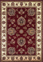 KAS Cambridge 7340 Red Ivory Floral Mahal