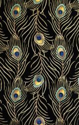 KAS Catalina 0738 Black Peacock Feathers