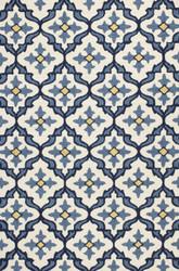 KAS Harbor 4210 Ivory Blue Mosaic