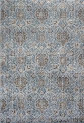 KAS Provence 8607 Slate Blue Allover Kashan