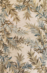 KAS Sparta 3126 Ivory Tropical Branches