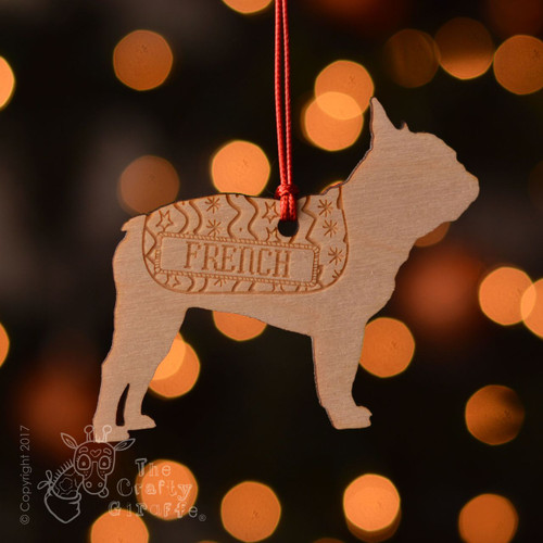Personalised French Bulldog Decoration