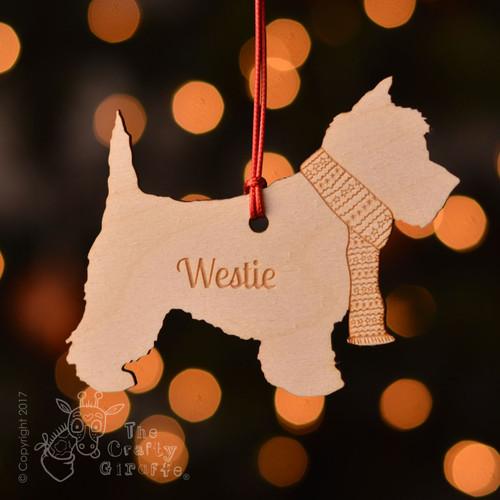 Personalised Westie Dog Decoration