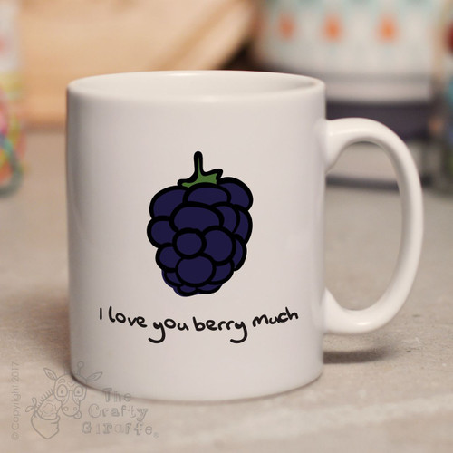 Personalised I love you berry much mug