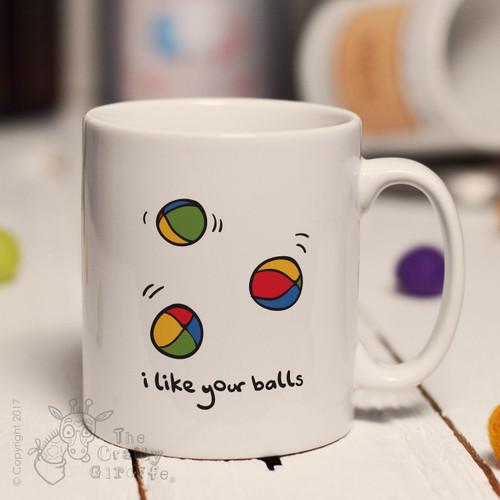 I like your balls mug