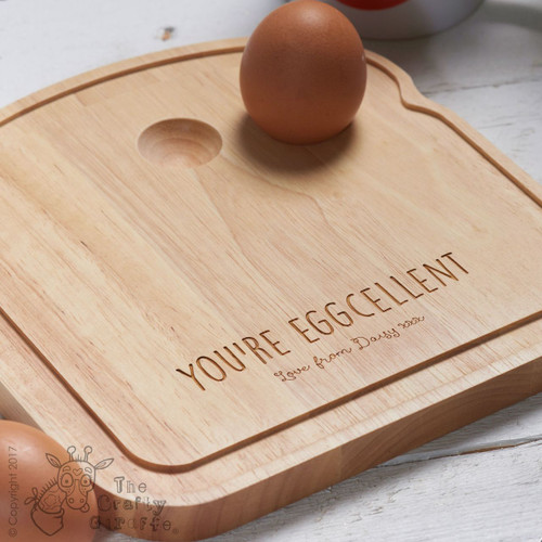 Personalised Breakfast Egg Board - Eggcelent