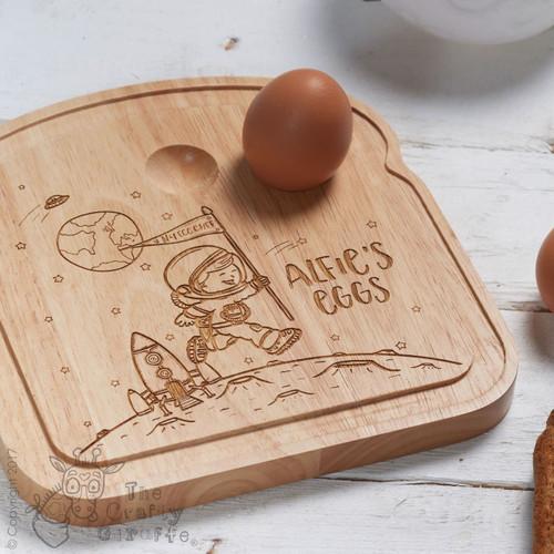 Personalised Breakfast Egg Board - Space