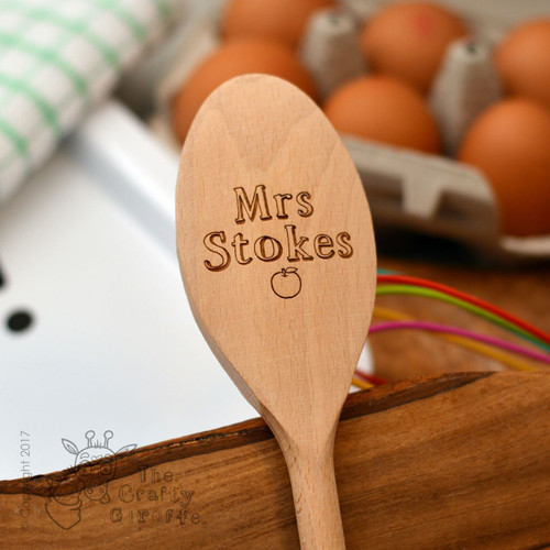 Personalised Teacher Wooden Spoon